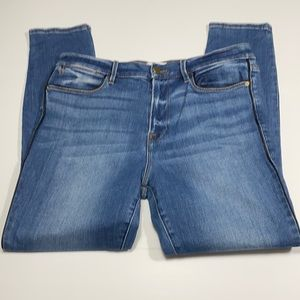 Frame Distressed HiRise Skinny Jeans Size 32